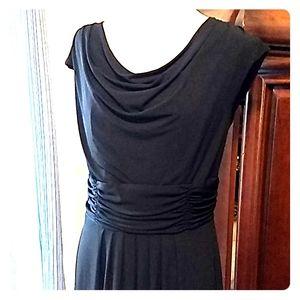 Liz Claiborne draped black dress